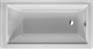 "White Architec Bathtub With Panel Height 19 1/4"" Product Image"
