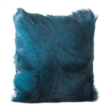 Goat Fur Pillow Teal