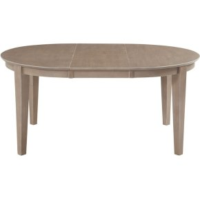 Oval Butterfly Extension Table in Taupe Gray