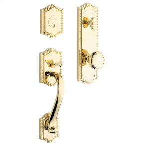 Non-Lacquered Brass Bristol Handleset