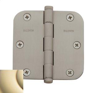 """Lifetime Polished Brass 5/8"""" Radius Corner Hinge Product Image"""