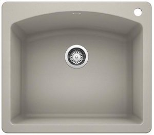Blancodiamond Single Bowl - Concrete Gray Product Image