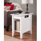 Nantucket Chair Side Table with Charger White Product Image