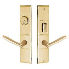 Lifetime Polished Brass Houston Escutcheon Entrance Set
