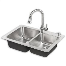 Montvale 33 x 22 Kitchen Sink with Faucet - Stainless Steel