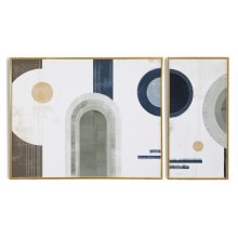 Harmonic Shapes Diptych By Coup D'esprit