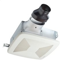 80 CFM LoProfile Ventilation Fan Finish Pack with White Grille