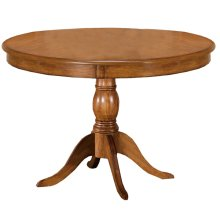 Bayberry Round Pedestal Dining Table - Oak