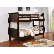 Benson Cappuccino Twin-over-twin Bunk Bed
