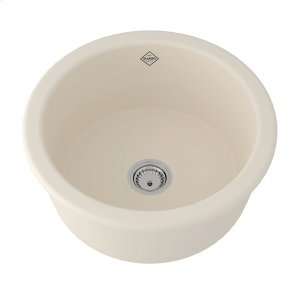 Parchment Shaws Original Lancaster Single Bowl Round Bar/Food Fireclay Prep Sink Product Image