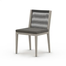 Charcoal Cover Sherwood Outdoor Dining Chair, Weathered Grey