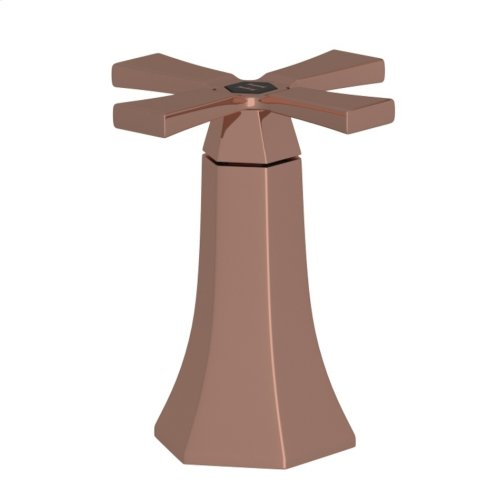 Rose Gold Bellia High Neck Widespread Lavatory Faucet