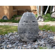 Outdoor Fountain: Small Pebble Fountains Green Marble