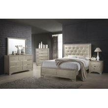 Beaumont Transitional Champagne Queen Bed