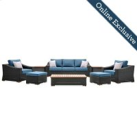 New Boston 8 Piece Wicker Patio Set Product Image