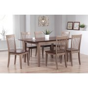 Solid Hardwood Butterfly Leaf Dining Table Product Image