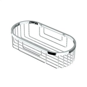 Oval Shower Basket in Chrome Product Image