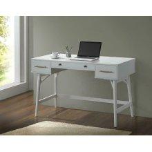 Transitional White Writing Desk