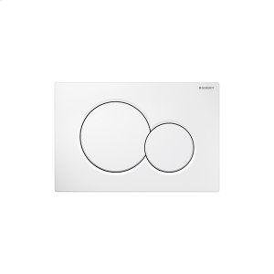 Sigma01 Dual-flush plates for Sigma series in-wall toilet systems Alpine white Finish Product Image