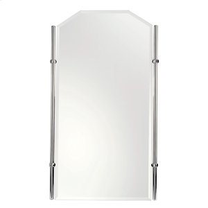 "Polished Chrome 20"" x 35"" Small Framed Mirror Product Image"