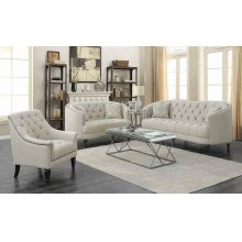 Avonlea Traditional Beige Loveseat