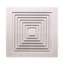 Ceiling/Wall Mount Fan, White Plastic Grille, 60 CFM