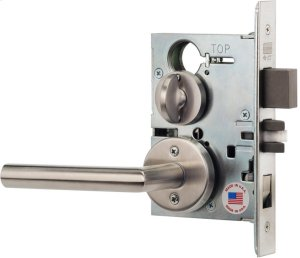 Modern Mortise Lever Lockset with Roses in Interior Trim (Modern Mortise Lever Lockset with Roses - Stainless Steel) Product Image