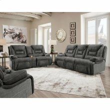 Triple Power Reclining Console Loveseat w/Wand/Lights/Lighted Cupholders/Storage
