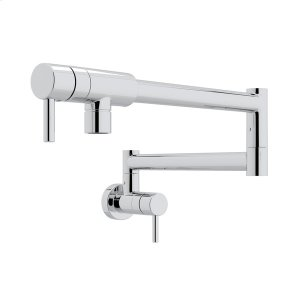 Polished Chrome Modern Pot Filler with Metal Lever Product Image