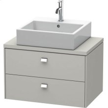 Brioso Vanity Unit For Console Compact, Concrete Gray Matte (decor)