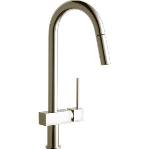 Elkay Avado Single Hole Kitchen Faucet with Pull-down Spray and Lever Handle Brushed Nickel Product Image