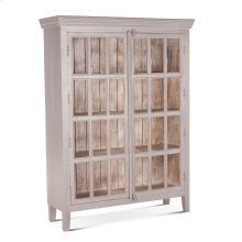 """Coral Gables 52"""" Tall Glass Cabinet Graywash"""