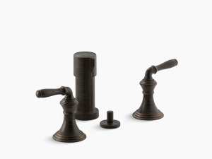 Oil-rubbed Bronze Vertical Spray Bidet Faucet With Lever Handles Product Image