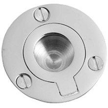 """Antique Brass Unlacquered Flush ring, 2"""" diameter"""