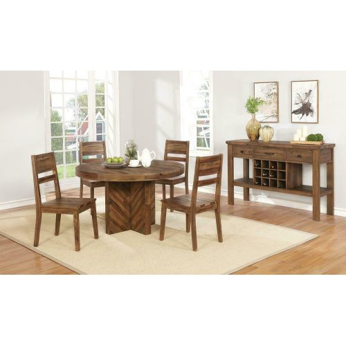 Tucson Rustic Varied Natural Round Dining Table