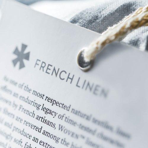 French Linen King White