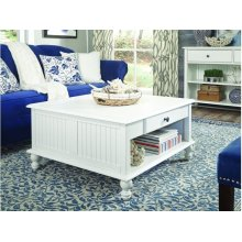 Square Coffee Table in Beach White
