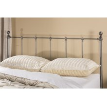 Molly Duo Panel Headboard - Queen - Black Steel