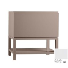 "Jenna 31"" Bathroom Vanity Base Cabinet in Glossy White"