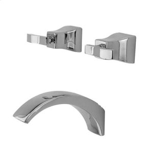 Aged Brass Wall Mount Tub Faucet Product Image