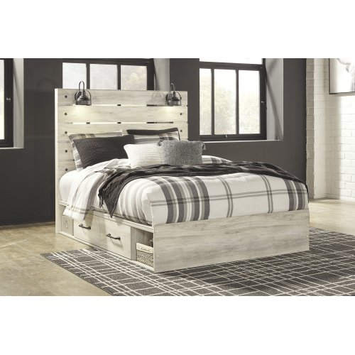 Cambeck - Whitewash 4 Piece Bed Set (Queen)