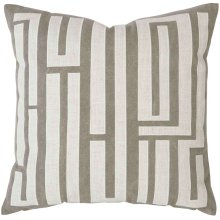 """Luxe Pillows Abstract Embroidered Fretwork (22"""" x 22"""")"""