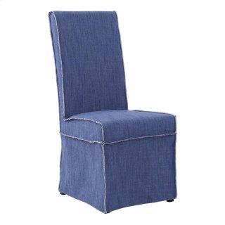 Shane Side Chair Denim Blue