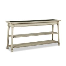 Classic Foundry Console Table w/Glass