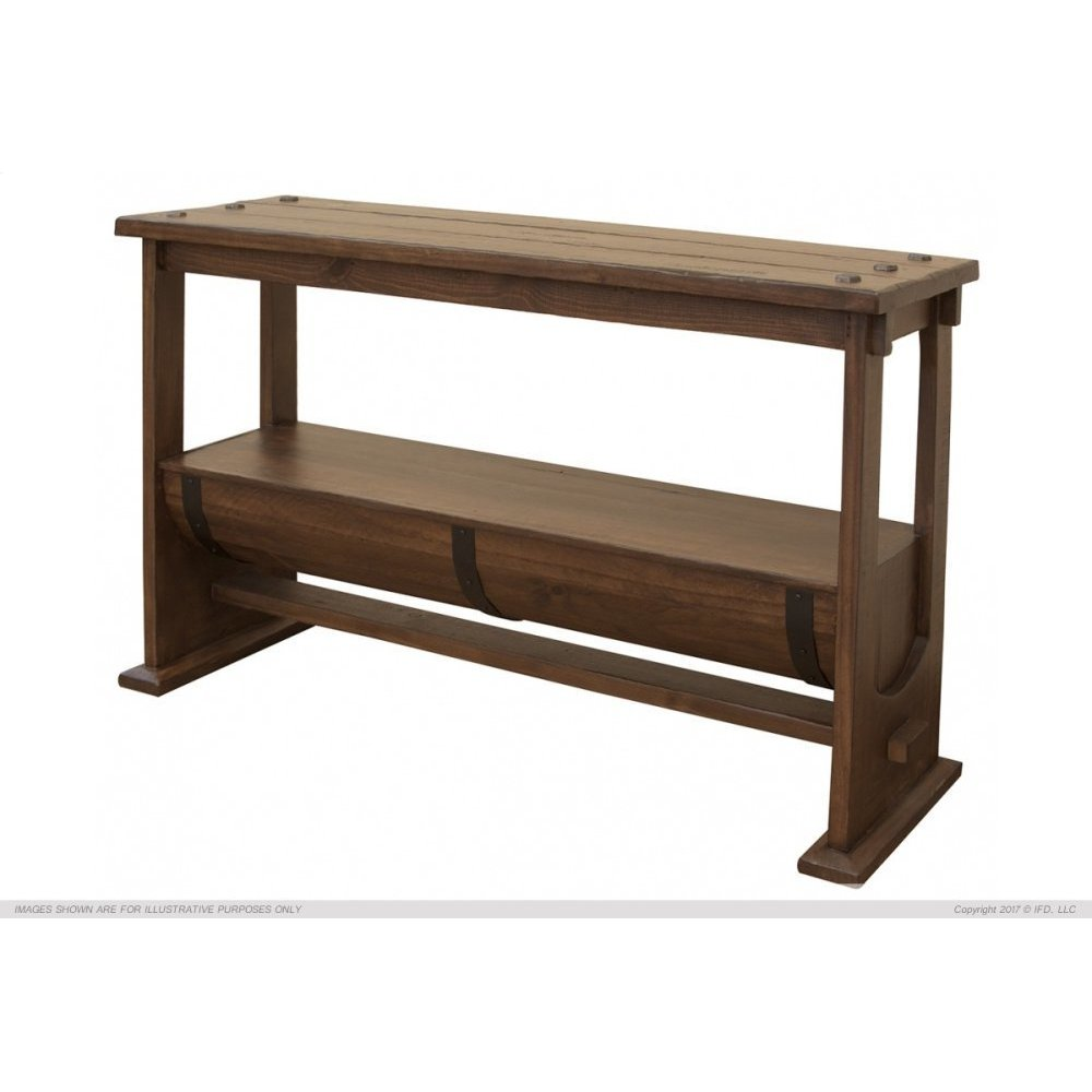 Barrel Sofa Table