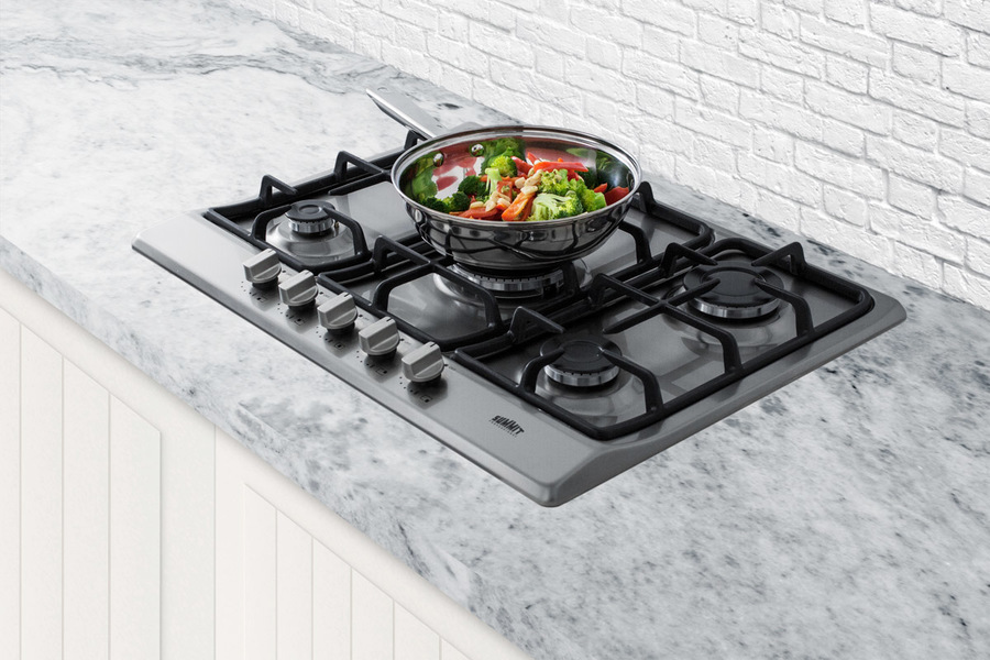 Summit GC527SS 5-Burner Gas Cooktop in Stainless Steel Finish Appliances