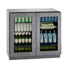 "Modular 3000 Series 36"" Glass Door Refrigerator With Integrated Frame Finish and Double Doors Door Swing (115 Volts / 60 Hz)"
