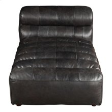 Ramsay Leather Chaise Antique Black