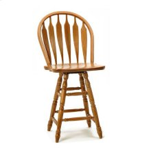 Classic Oak Chestnut Wide Arrow Counter Stool