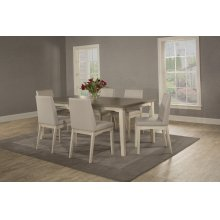 Clarion 7-piece Rectangle Dining Set With Upholstered Chairs - Sea White